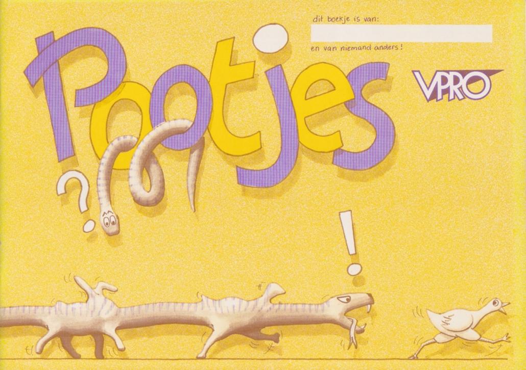 VPRO boek Pootjes 1 omslag